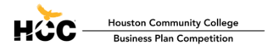 HCC Logo with Business Plan Competition to be used for 2020 Business Plan marketing
