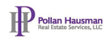 a graphic with the words Pollan Hausaman Real Estate Services written as a logo