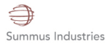 a graphic with the words summus industries as a logo