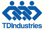 a graphic design with TDIndustries written as a logo