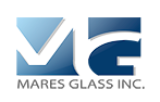 graphic of a M and a G with words mares glass, inc. as a logo